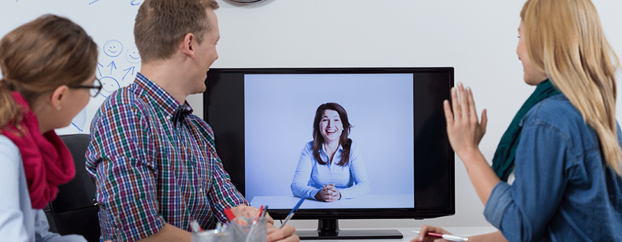 Video Conferencing during a business meeting