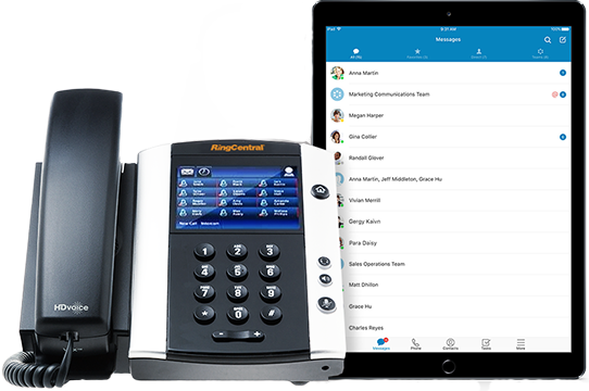 Ring central phone and tablet system