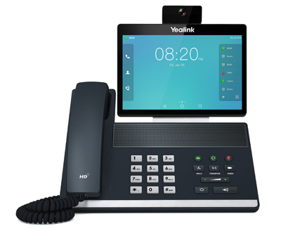 yealink cloud communications products phone system with touch screen