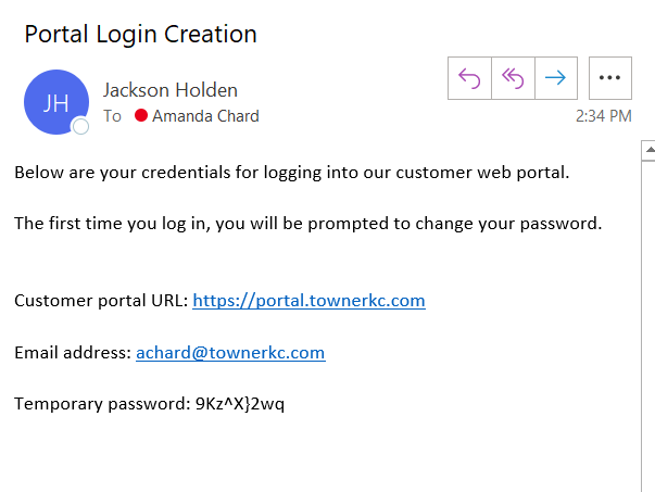 Portal Login Creation